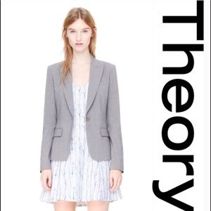 Theory Gray Suit Jacket Size 0
